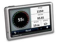 Garmin Nuvi 1450LMT speed screen display
