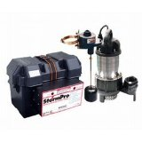 Pictured is StormPro 33ac Battery Backup Sump Pump